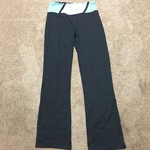 Bally gray, aqua, white yoga pants-size M (8-10)